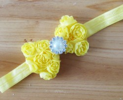 Gorgeous Yellow for Toddlers in India with Designer Flowery Bow