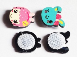 Set of 2 Character Mini Velcro Clips for newborn (Minnie character)