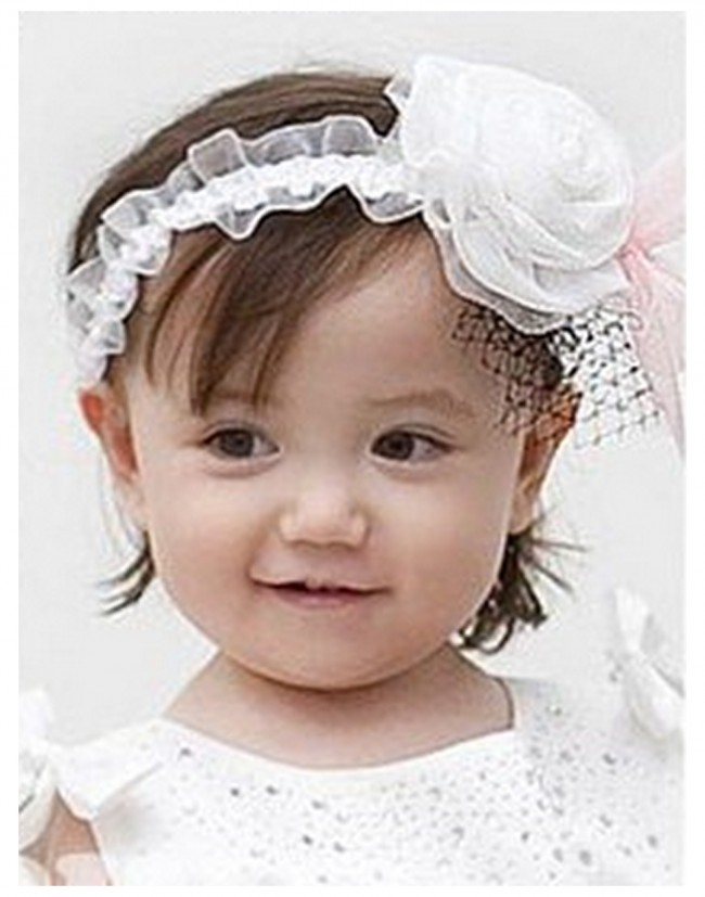 62011388c956 White Baby Headband with Black Extended Net · Zoom