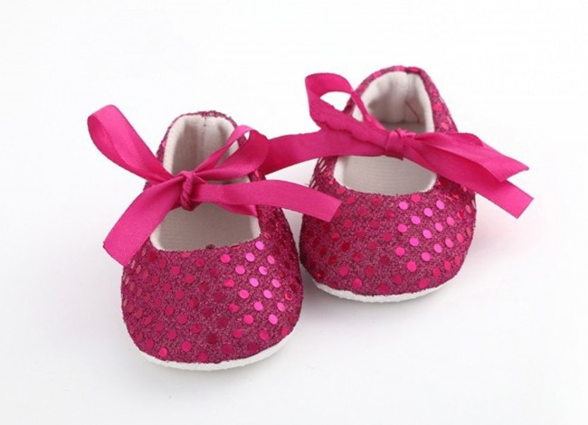 Online Fuschia Pink Designer Baby S Shoes In India With Bow