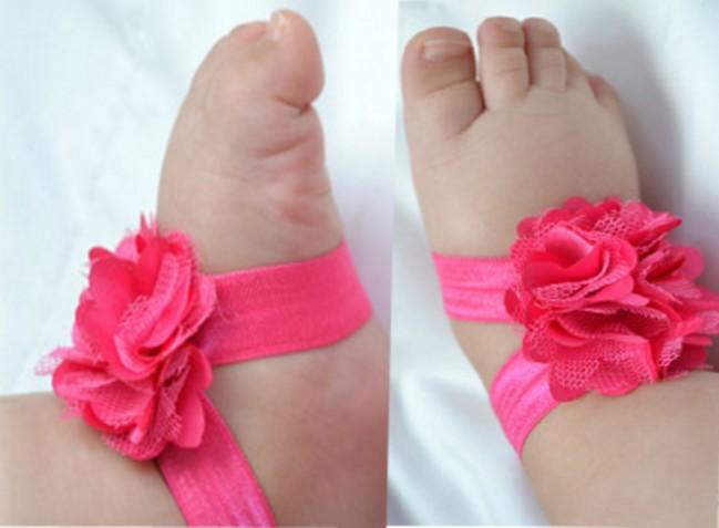 Baby Girl Newborn Kids Ruffle Children Foot Flower Shoes Photo Prop Accessories