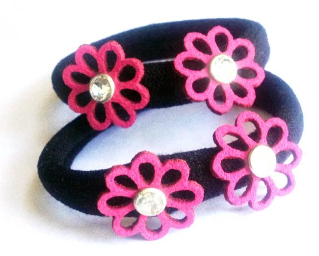 Handmade flower hair ties for BabyGirl in Deep Red by AkinosKIDS f1afeb9ea0d
